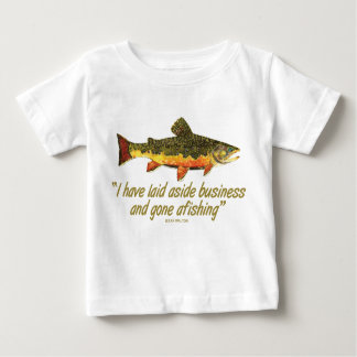 Izaak Walton Fishing Quote Baby T-Shirt