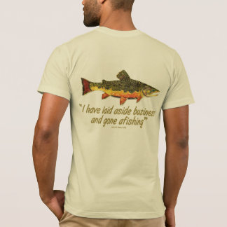 Izaak Walton Fishing Quote T-Shirt