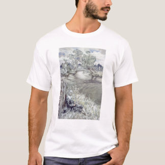 Izaak Walton reclining against a Fence T-Shirt