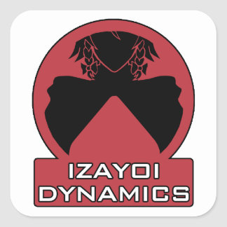 Izayoi Dynamics Logo with Text Square Sticker