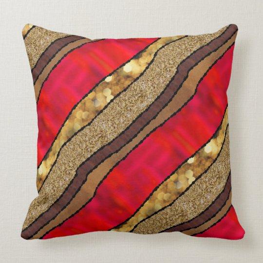 Izmir Red Throw Pillow
