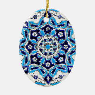 İznik Blue and white flowers ceramics tile Ceramic Ornament