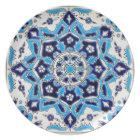 İznik Blue and white flowers ceramics tile Plate