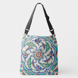 iznik ceramic tile from Topkapi palace Crossbody Bag