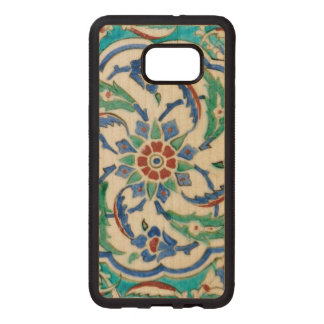 iznik ceramic tile from Topkapi palace Wood Samsung Galaxy S6 Edge Case