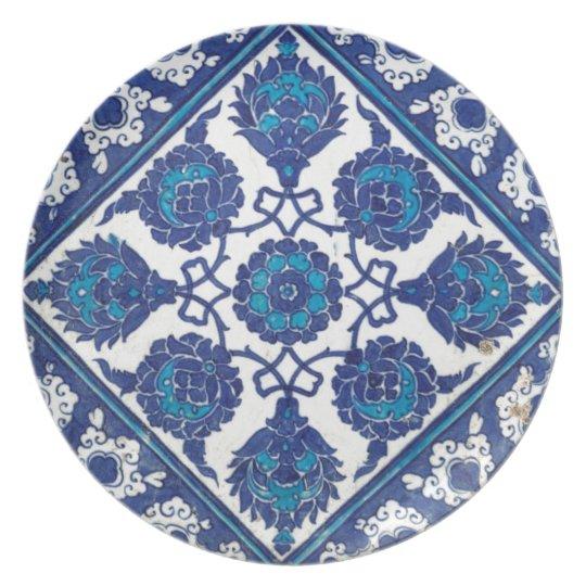 Iznik Floral Ethnic Tribal Turkish Mosaic Pottery Plate