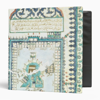 Iznik tile with a representation of Mecca 3 Ring Binder