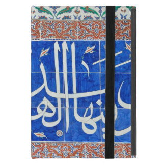 Iznik tiles with islamic calligraphy case for iPad mini