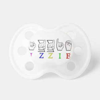 IZZIE FINGERSPELLED ASL NAME SIGN PACIFIER