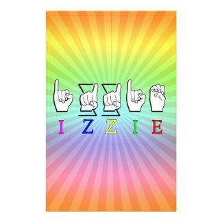 IZZIE FINGERSPELLED ASL NAME SIGN STATIONERY