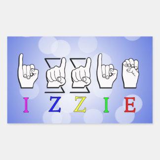 IZZIE FINGERSPELLED ASL NAME SIGN STICKER