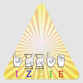 IZZIE FINGERSPELLED ASL NAME SIGN TRIANGLE STICKER