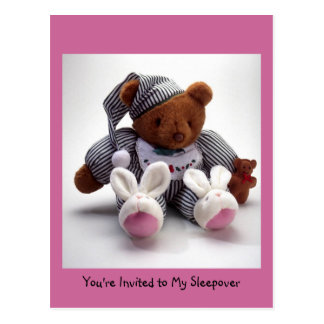 j0314047, You're Invited to My Sleepover Postcard