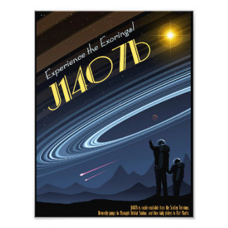 J1407b Space Travel Poster