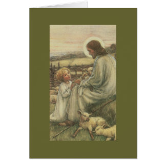 j-2  jesus with child card
