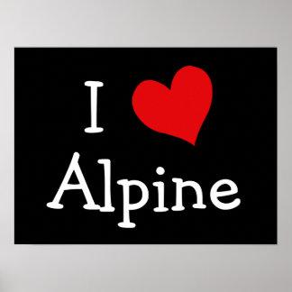 J aime alpin affiches