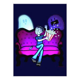 J aime des films effrayants faire-part personnalisé