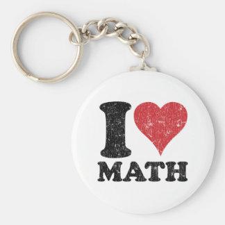 J aime des maths porte-clef