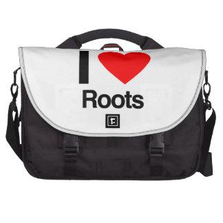 j aime des racines sacs pour ordinateurs portables