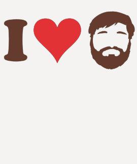 J aime la chemise de barbes t-shirts