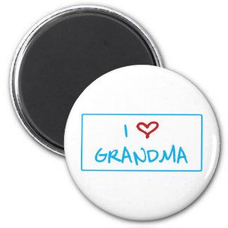 J aime la grand-maman aimants