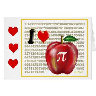 J aime la tarte aux pommes et le rouge et l or de carte