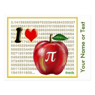 J aime la tarte aux pommes et le rouge et l or de carte postale
