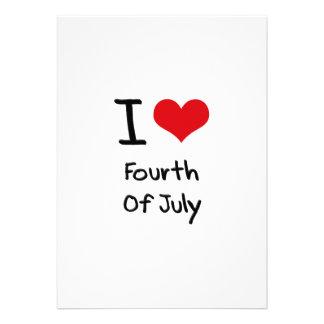 J aime le quatrième de juillet faire-part personnalisés