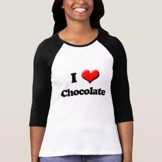 J aime le T-shirt de chocolat Saint-Valentin rétr