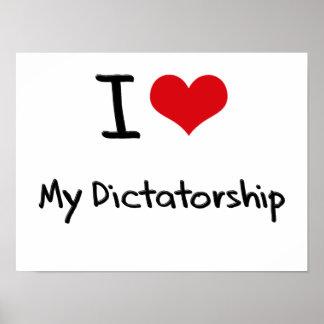 J aime ma dictature affiches