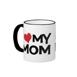 J aime ma tasse de sonnerie du jour de mère de mam
