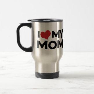 J aime ma tasse de voyage du jour de mère de maman