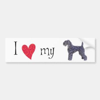 J aime mon bleu de Kerry Terrier Adhésif Pour Voiture