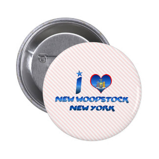 J aime nouveau Woodstock New York Badge Avec Épingle