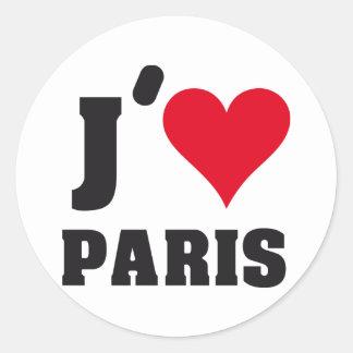 J´AIME PARIS CLASSIC ROUND STICKER