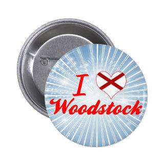 J aime Woodstock Alabama Badges Avec Agrafe