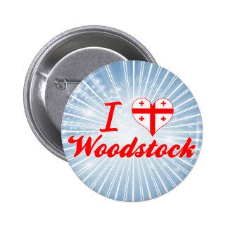 J aime Woodstock la Géorgie Pin's
