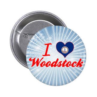 J aime Woodstock la Virginie Badges Avec Agrafe