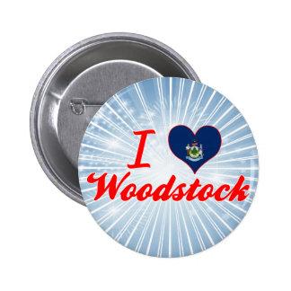 J aime Woodstock Maine Pin's Avec Agrafe