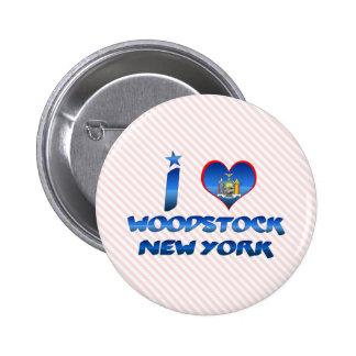 J aime Woodstock New York Badges