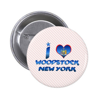 J aime Woodstock New York Badges
