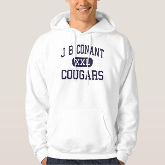J B Conant - Cougars - High - Hoffman Estates Hoodie