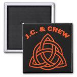 J.C. AND CREW REFRIGERATOR MAGNET