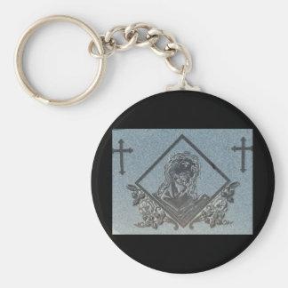 J. Christ 1 Basic Round Button Keychain