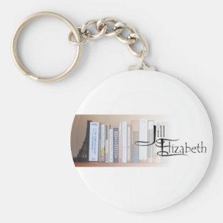 J-E Books and Logo Keychain