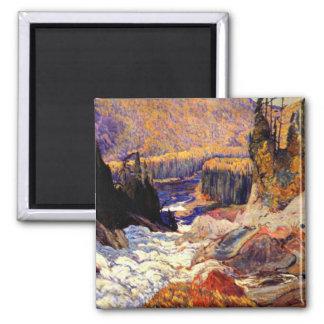 J.E.H. MacDonald: Montreal River artwork Magnet