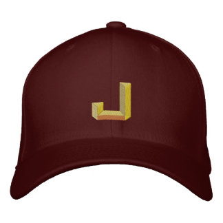 J EMBROIDERED HAT