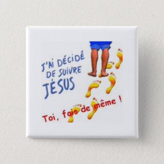 J have decides to follow Jesus 2 Inch Square Button