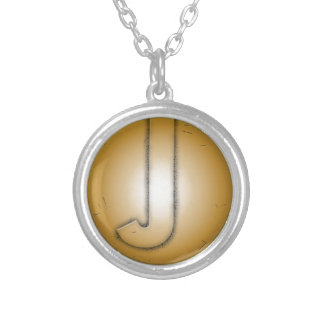 J initial letter personalised necklace