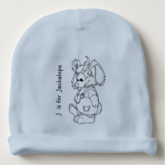 """J is for Jackalope"" Baby Beanie"